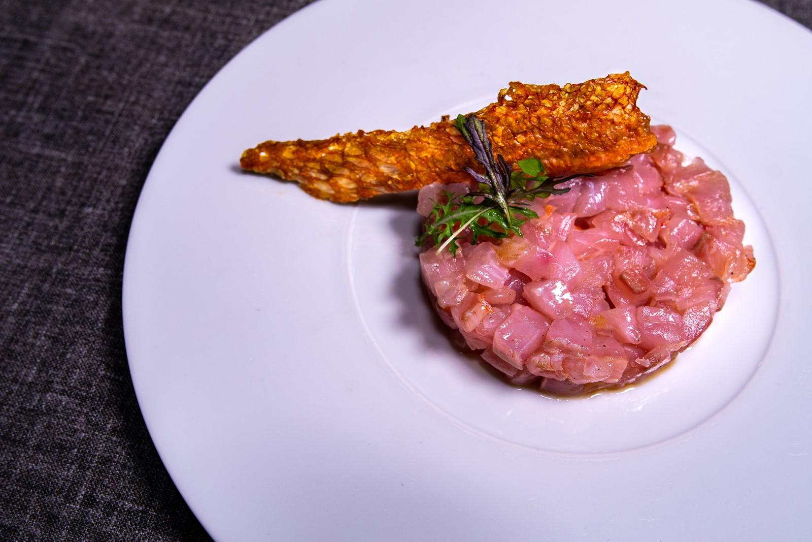 Tartar de salmonete gallego